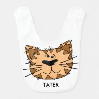 Personalized Reversible Smiling Cartoon Tiger Bib