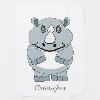 Personalized Rhino Design Baby Blanket