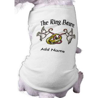 Personalized Ring Bearer Gifts Sleeveless Dog Shirt