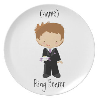 Personalized Ring Bearer Wedding Plate/Gift Plate