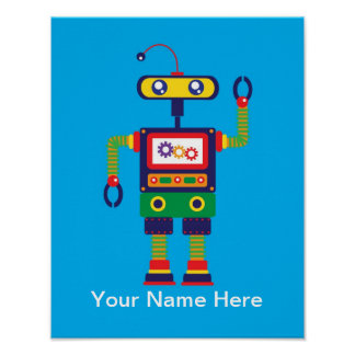 Personalized Robot Art Print
