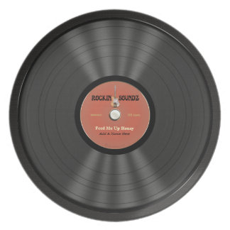Personalized Rock Vinyl Record Plate