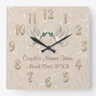 Personalized Romantic Blush Champagne Clock