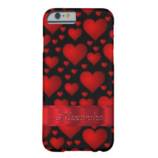 Personalized romantic heart pattern barely there iPhone 6 case