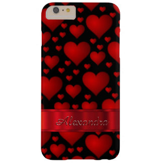 Personalized romantic heart pattern barely there iPhone 6 plus case