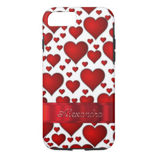 Personalized romantic heart pattern iPhone 8/7 case