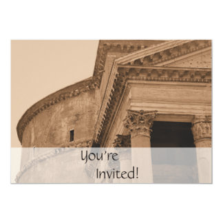 "Personalized Rome Pantheon Italian Dinner Party 5"" X 7"" Invitation Card"