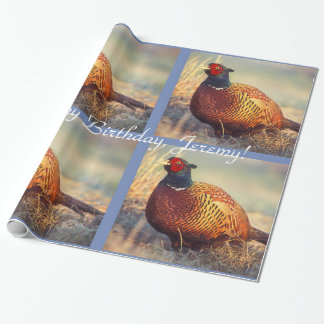 Personalized Rooster Pheasant Wrapping Paper