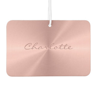 Personalized Rose Gold Stainless Steel Metallic Car Air Freshener