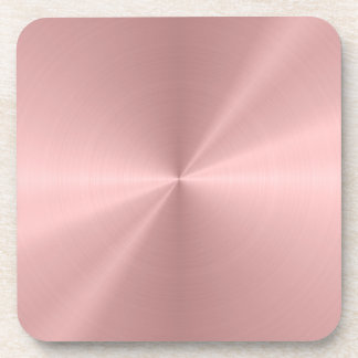 Personalized Rose Gold Stainless Steel Metallic Coaster