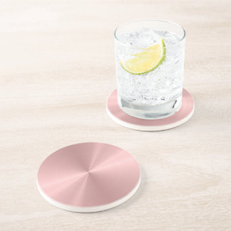 Personalized Rose Gold Stainless Steel Metallic Drink Coaster
