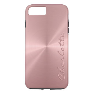 Personalized Rose Gold Stainless Steel Metallic iPhone 8 Plus/7 Plus Case
