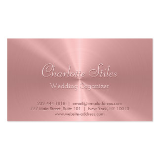 Personalized Rose Gold Stainless Steel Metallic Pack Of Standard Business Cards