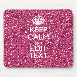 Personalized Rose Keep Calm Decor Mouse Mat