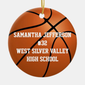 Personalized Round Basketball Sports Ornament