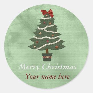 Personalized Round Christmas Sticker