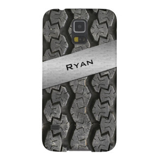 Personalized Rubber Tire Treads Galaxy S5 Case