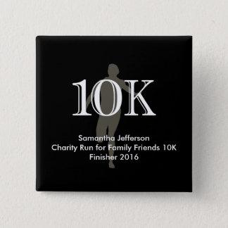 Personalized Runner 10k Cross-Country Keepsake 15 Cm Square Badge