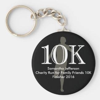Personalized Runner 10k Cross-Country Keepsake Basic Round Button Key Ring
