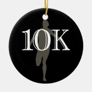 Personalized Runner 10k Cross-Country Keepsake Round Ceramic Decoration
