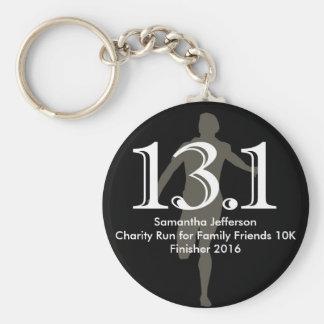 Personalized Runner 13.1 Half Marathon Keepsake Basic Round Button Key Ring