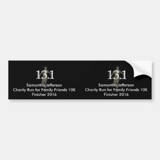 Personalized Runner 13.1 Half Marathon Keepsake Bumper Sticker