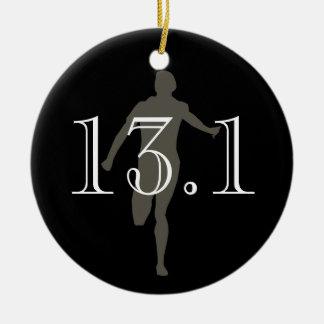 Personalized Runner 13.1 Half Marathon Keepsake Ornaments