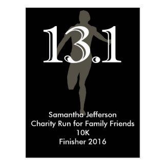 Personalized Runner 13.1 Half Marathon Keepsake Postcard