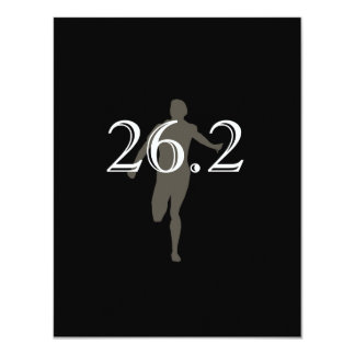 Personalized Runner Marathon Keepsake 26.2 11 Cm X 14 Cm Invitation Card