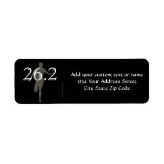 Personalized Runner Marathon Keepsake 26.2 Return Address Label