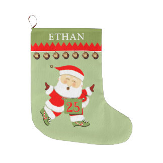 personalized Running Large Christmas Stocking