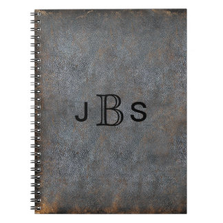 Personalized Rustic Leather | Monogrammed Initials Notebooks