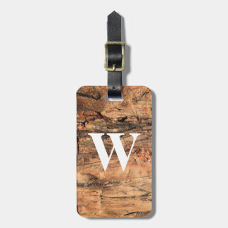 Personalized Rustic Luggage Tag