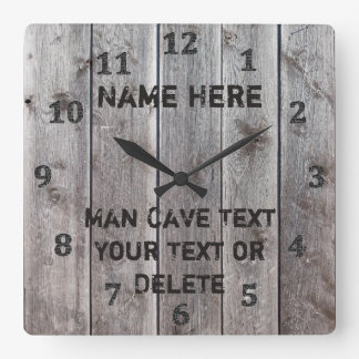 Personalized Rustic Man Cave Clocks for Him