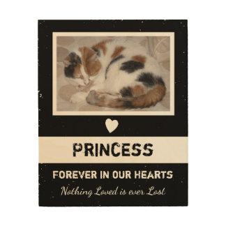 Personalized Rustic Pet Memorial Wood Print