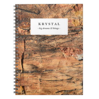 Personalized Rustic Wood Notebook