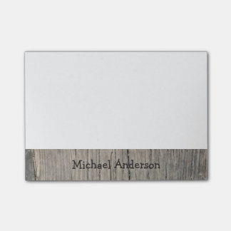 Personalized Rustic Wood Post-it Notes