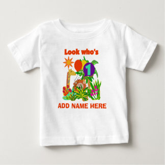 Personalized Safari 1st Birthday Tshirt
