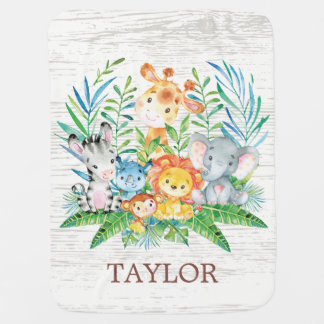 Personalized Safari Boy | Girl  Receiving Blanket