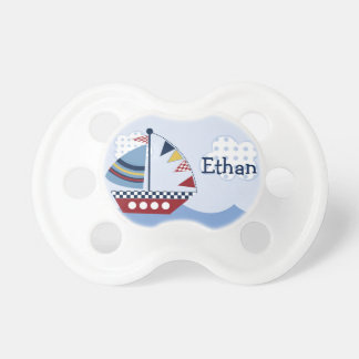 "Personalized ""Sail Away/Nautical/Boats Pacifier"