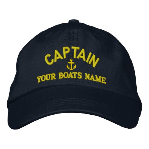 Personalized sailing captains embroidered hat