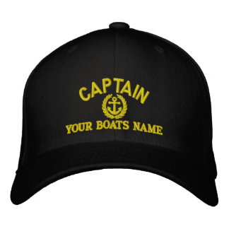 Personalized sailing captains with anchor embroidered hat