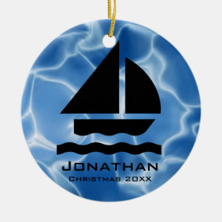 Personalized Sailing Ornament