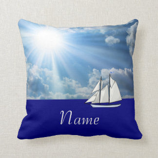 Personalized Sailing Pillow