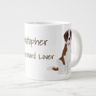 Personalized Saint Bernard Design Large Coffee Mug