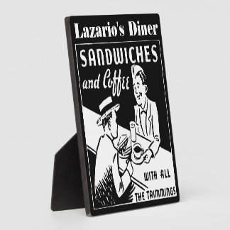 Personalized Sandwiches and Coffee Sign or Wall Plaque