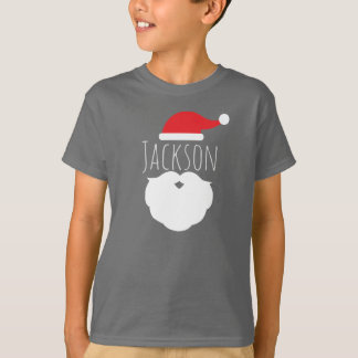 Personalized Santa Hat and Beard Kid's T-Shirt
