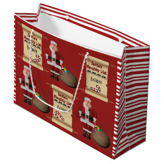 Personalized Santa's Naughty or Nice List Large Gift Bag