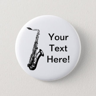 Personalized Saxophone 6 Cm Round Badge