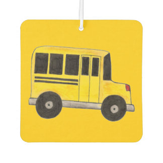 Personalized School Bus Driver Gift Air Freshener